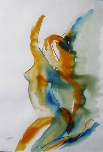 Art Et Vie Messanges : nu f minin tableau peinture contemporaine joy encres mod le vivant peintures par cyane ~ Nature-et-papiers.com Idées de Décoration