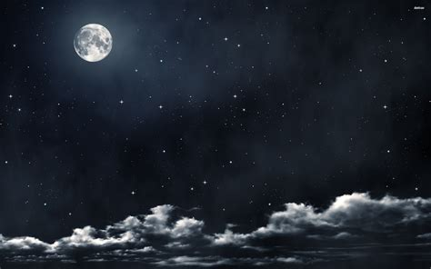 Night Sky Moon Wallpapers Images Photos Pictures Backgrounds