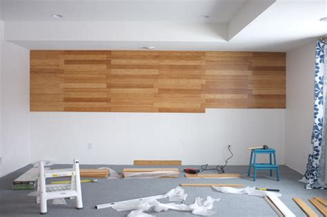 hardwood flooring on the wall diy bamboo focal wall