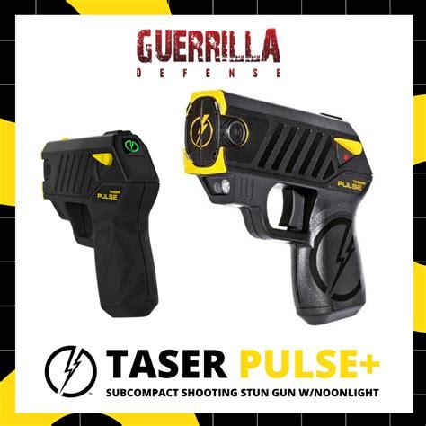 taser pulse subcompact shooting stun gun wnoonlight guerrilla defense personal protection