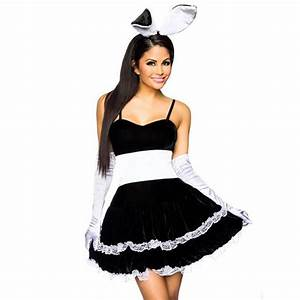 Sexy Halloween Play Girl Bunny Maid Costume For Women ...