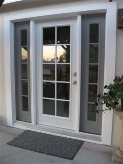 single style door with insulated glass and