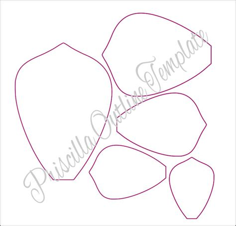 Paper Flower Template Free by Paper Flowers Paper Flower Templates
