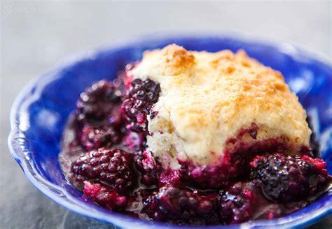 best blackberry recipes blackberry cobbler recipe simplyrecipes com