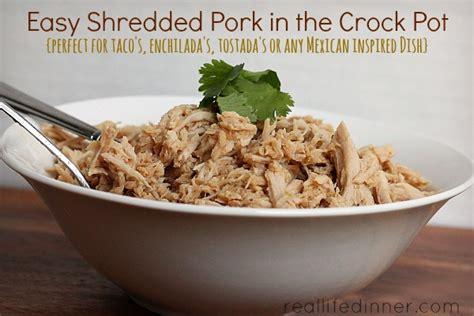 easy shredded pork in the crock pot shredded pork