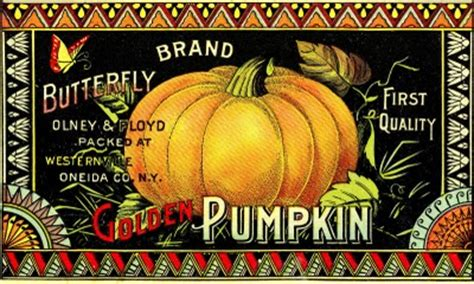 vintage halloween clip art pumpkin label  graphics