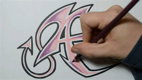graffiti letter a how to draw graffiti letters a 15352