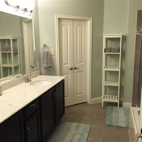Spa Like Bathroom Paint Colors by Master Bath Update Wall Color Is Gray By