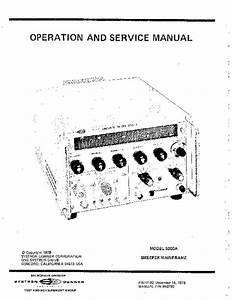 Service And User Manual - Systron Donner 5000a - 2