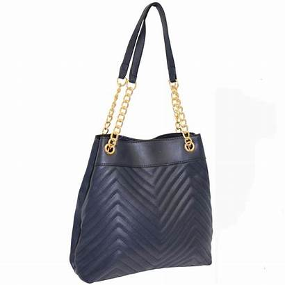 Navy Quilted Zip Handbags Handbag Bagzone Wholesale