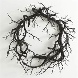creepy black branch wreath the green
