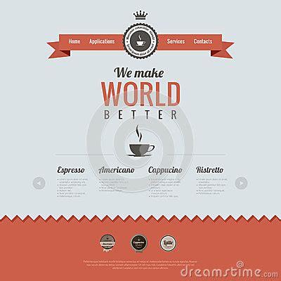 vintage website design template coffee theme htm royalty