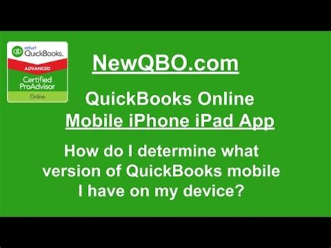 how to tell what version iphone quickbooks mobile iphone app how do i