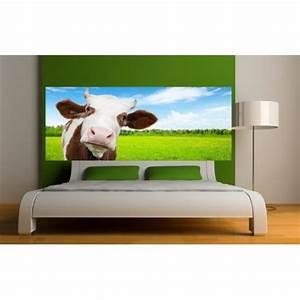 Tete De Vache Deco : papier peint t te de lit vache dans le pr art d co stickers ~ Melissatoandfro.com Idées de Décoration