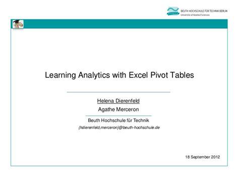 learn excel pivot tables upload login signup