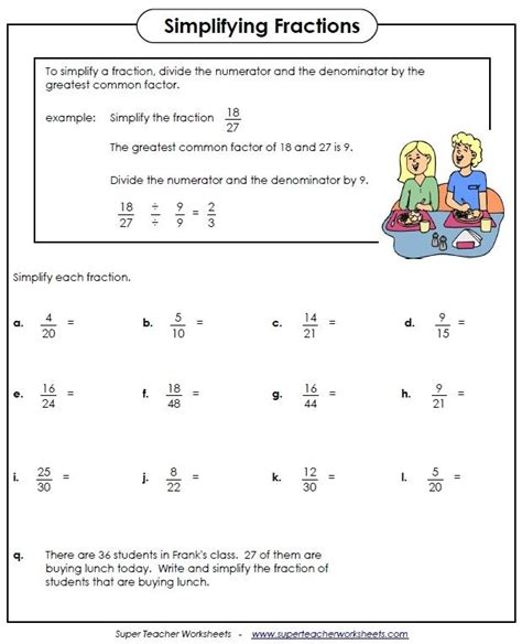simplifying fractions worksheet kids ipad apps reading writing fractions worksheets