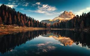 Dolomiti, Italy, Autumn, Lago, Antorno, Landscape, Photography
