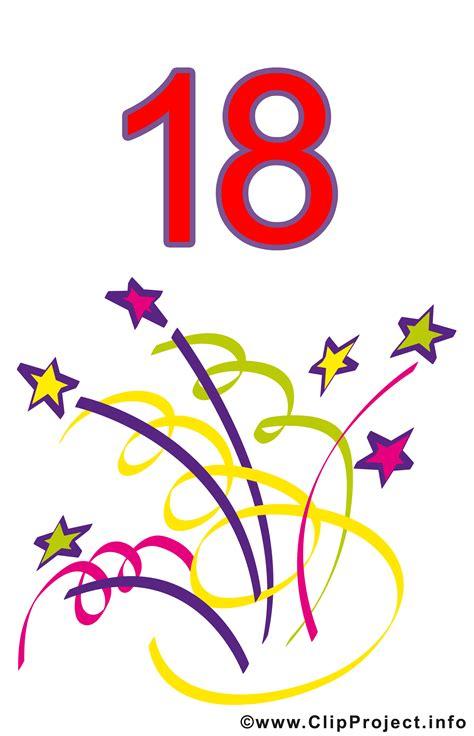18 Geburtstag Clipart Gratis