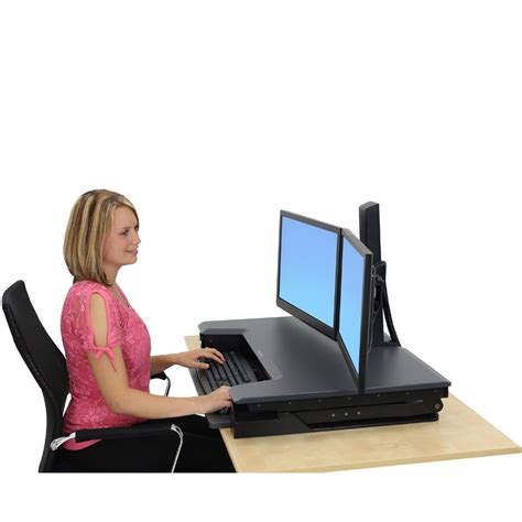 ergotron workfit t sit stand desktop workstation sit stand ergotron 33 397 085 workfit t desktop workstation