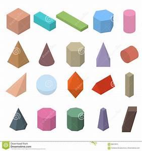Geometrische Formen Berechnen : satz geometrische formen 3d isometrische ansichten vektor abbildung illustration von kasten ~ Themetempest.com Abrechnung
