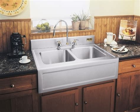 kitchen drop in sinks choose sleek and shiny texture drop in farmhouse sink for 4737