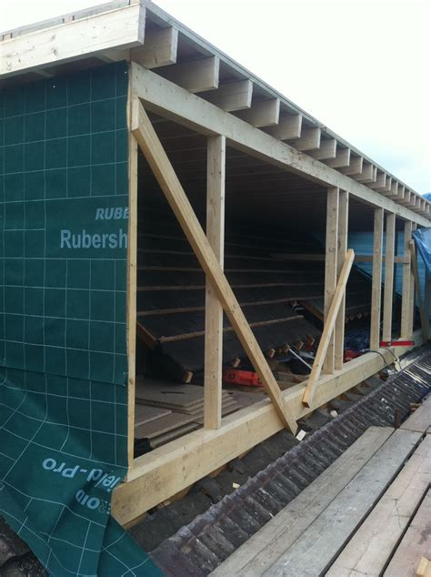 Building A Dormer Roof by Loft Conversion Flat Roof Dormer In Build 6 Attic