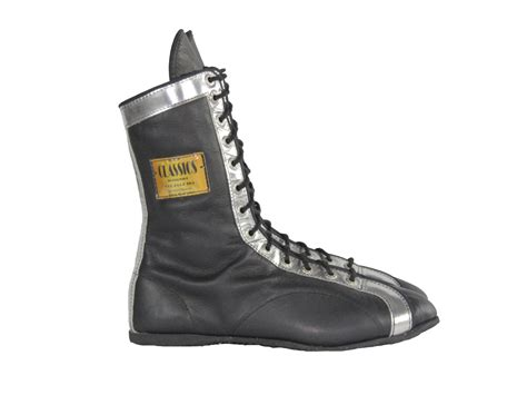 Two-color Leather Boxing Shoes Metalico Trim