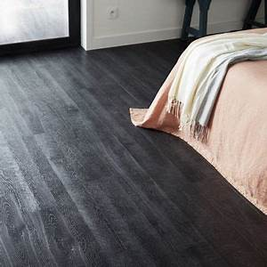 lames pvc starflor smoked black 152 x 914 cm castorama With parquet stratifié autocollant