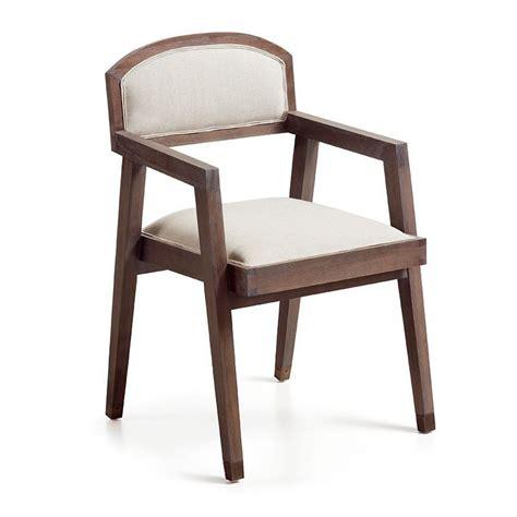 chaise accoudoir tissu chaise vintage à accoudoir assise en bois massif et tissu