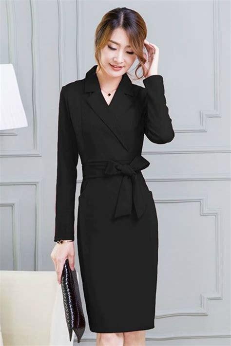 busana kerja wanita korea dress formal wanita korea