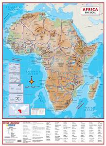 Africa Physical Wall Map A Comprehensive Physical Map Of