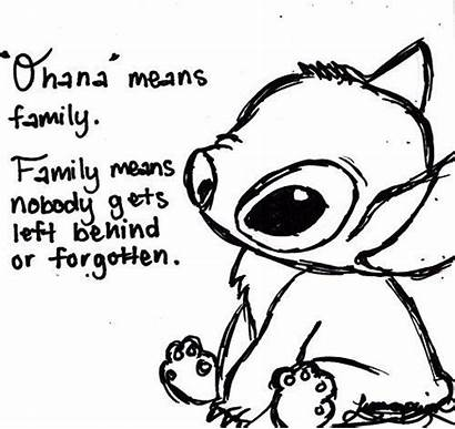 Stitch Ohana Lilo Quotes Means Tattoo Quote