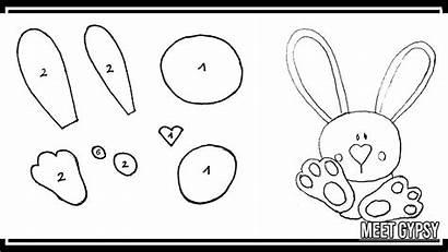 Imprimir Pascua Flor Manualidades Conejo Molde Moldes