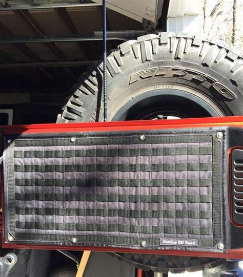 jeep tailgate storage molle tailgate storage panel kit justice off road it 39 s