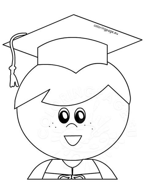 boy graduate graduation printable coloring page