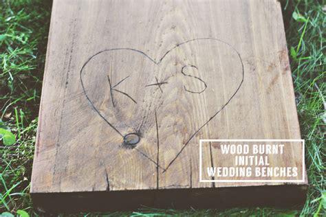 DIY Wedding Seating Rustic Log Benches