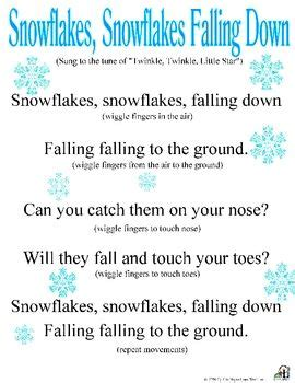 winter songs for preschoolers snowflakes snowflakes falling physical therapy 766