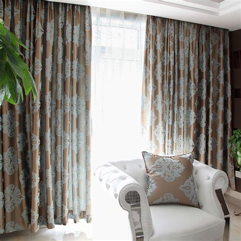 blue and brown curtains brown and blue window curtains use jacquard technology