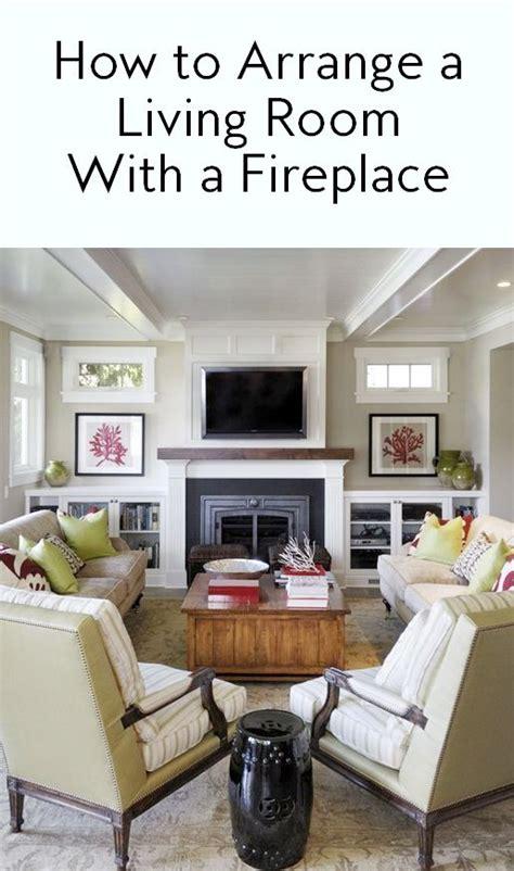 ways  arrange  living room   fireplace
