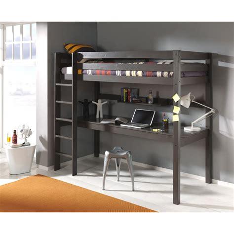 lit superpose bureau lit enfant superposé bureau quot pino quot taupe
