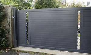 Portail Sectionnel Coulissant Portail Aluminium Coulissant
