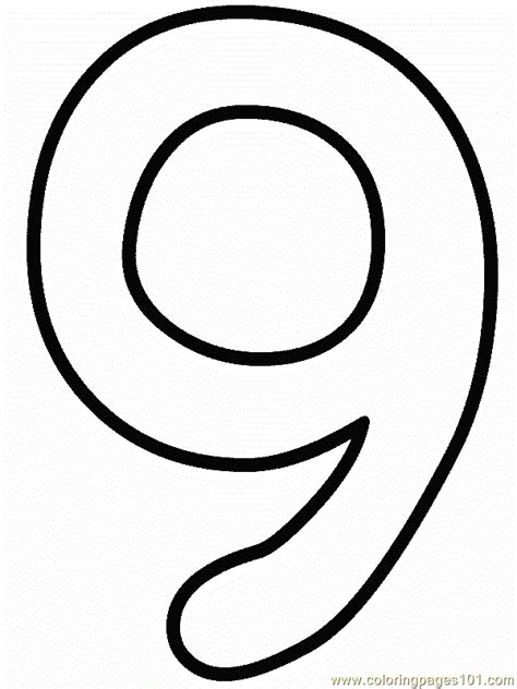 coloring page  numbers coloring pages