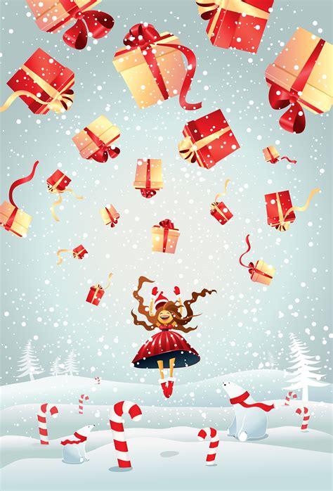 christmas illustrations  behance