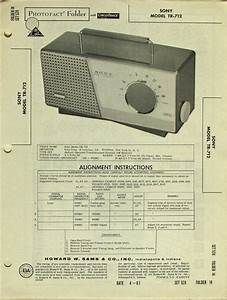 Sony Model Tr-712 Radio Portable Sams Photofact