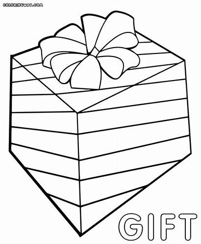 Gift Coloring Pages Box Colorings