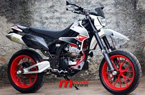 Modification Kawasaki Klx 250 by Modifikasi Kawasaki Klx 250 Supermoto Punya Portal