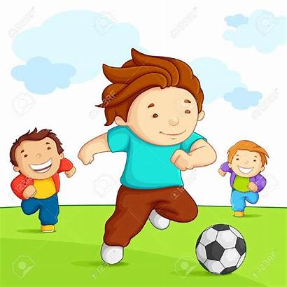 Playing Clipart Outside Soccer Children Football Clip