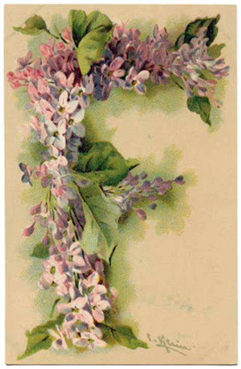 victorian graphic lilac monogram letter   graphics fairy