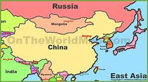 East Asia Political Map - Blank East Asia Political Map ...