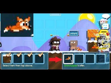 growtopia pet fox     youtube